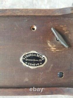 1940 Switzerland THORENS pre REUGE Music Box Swiss Made 52 Key Play 4 Songs