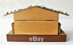 1970 Switzerland REUGE Music Box Wind Up Box Swiss Made Chalet Cabin Music Box