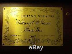 1986 Johann Strauss Reuge 5 cylinder MUSIC BOX Franklin Mint Swiss