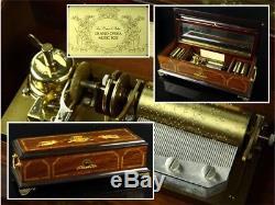 1988 Reuge La Musica Ditalia Grand Opera Music Box by Franklin Mint Automaton