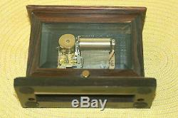 ANTIQUE SOLID WOOD KOHAUT & Co. STANDING MUSIC BOX REUGE SWISS MADE MOVEMENT