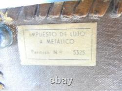 Ancienne Boite A Musique Reuge Coffret Cave A Cigare Cigarette Cuir Musical Box