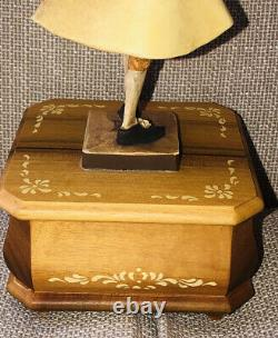 Anri Music Box Hand Carved Wood 18th Century Drawing Room Reuge 36 Note Swiss