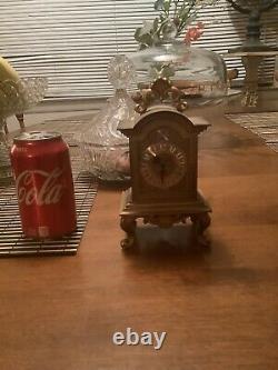 Antique Musical Automaton Clock Reuge Music Box Clock