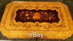 Beautiful Large Reuge Jewelry And Music Box Rare Lift Out Tray