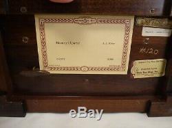 Beautiful Reuge 3 X 72 Note Music Box Glass Wood Andrew Lloyd Weber Memory