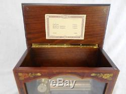 Beautiful Reuge 72 Note Sorrento Music Box Inlaid Wood 3 Pieces by Schubert