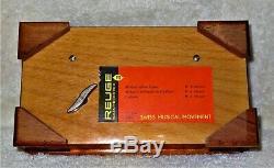 Beautiful Reuge Sainte Croix 3/50 Music Box 35005 Mozart Burr Elm & Walnut