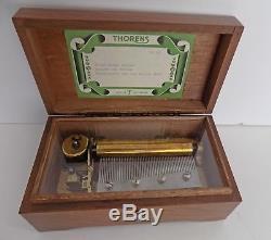 Beautiful Vintage THORENS PRE REUGE Swiss Music Box 50 Key Play 3 Songs