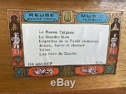 Birdseye Maple Reuge Music Box 41 Notes 6/41 Blue Danube