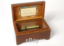 Box in Music Wood Reuge st. Croix Swiss 3 Airs Waltz Early 20th