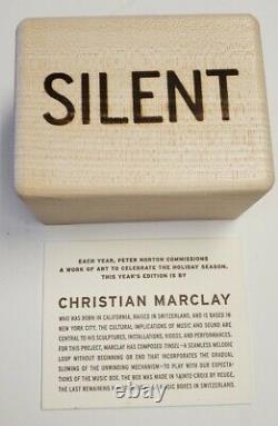 CHRISTIAN MARCLAY Silent Listen 2005 Reuge Music Box Norton Christmas present