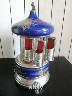 Carosello Carillon Portasigarette Reuge Carousel Music Box Cigarette Sigarette