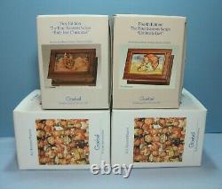 Complete Set 4 Hummel Goebel Anri THE FOUR SEASONS Reuge Music Boxes Lmtd Edtn