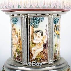 Compodimonte Carousel Reuge Music Box Cigarette Lipstick Holder Laras Theme