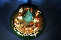 ERZGEBIRGE Christmas Music Box Richard Glaesser Carved Wood ANGELS Germany REUGE