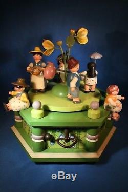 ERZGEBIRGE KWO Music Box Carved Wood REUGE/ROMANCE Germany