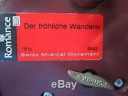 ERZGEBIRGE KWO Music Box Carved Wood REUGE/ROMANCE Germany Lady Bug Musicians