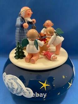 ERZGEBIRGE ULBRICHT Music Box Christmas Carved Wood REUGE/ROMANCE Germany