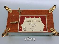 EXCELLENT REUGE CYLINDER MUSIC BOX large Ch3/72 RACHMANINOV crystal & gilt case