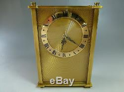 EXC Jaeger Le Coultre SWISS MUSIC ALARM CLOCK WITH REUGE MUSIC BOX -WATCH VIDEO