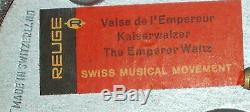 EXC VTG Reuge Music Box Dancing Couple Ballerina Swiss Movement