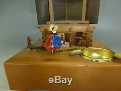 Exc Rare Model Of Vintage Reuge Dancing Ballerina Music Box (watch The Video)