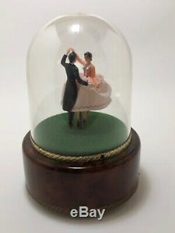 Exc Vintage Reuge Dancing Couple Ballerina Music Box Automaton (see Video)