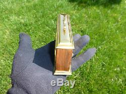 Exc Vintage Swiss Musical Alarm Clock With Reuge Music Box (watch The Video)