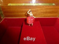 Exc. Vintage Swiss Reuge Dancing Ballerina Music Jewelry Box (watch The Video)