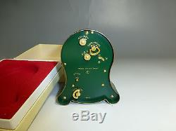 Exc Vintage Swiss Reuge Music Alarm Clock Mechanical Wind Up Clock & Music Box