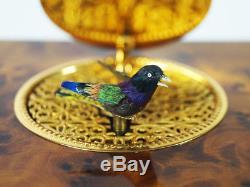 Fascinating Reuge Singing Bird Music Box Automaton