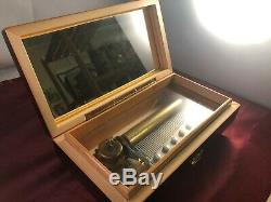 Fine Reuge Classical Music 6 Aires Glass Covered Music Box VIDEO