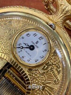 Fine Reuge Swiss Music Box Pocket Watch Runs And Plays La Vie En Rose Wow 26