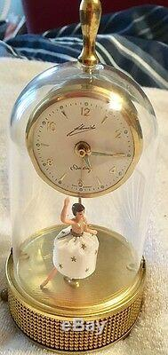 German Automaton Ballerina Dancing Musical Alarm Clock Music Box Reuge