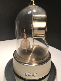 German Automaton Ballerina Dancing Musical Alarm Clock Music Box Reuge