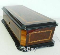 Gorgeous Handmade Reuge 50 Note 5 Song Interchangeable Cylinder Grand Music Box