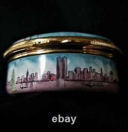Halcyon Days Enamels Reuge Music Box Designed by Tiffany&Co. Statue of Liberty