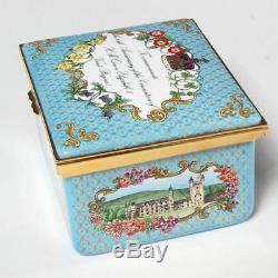 Halcyon Days Queen Elizabeth II Sapphire Jubilee Enamel Music Box, Reuge Works