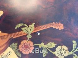 Inlaid Burl Wood Reuge Sorrento Italy Large 21 Music Box