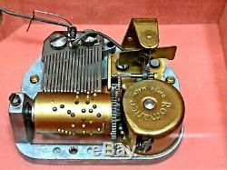 Italian Hand-Crafted Inlaid Wood Jewelry Music Box, Reuge Romance Mechanism