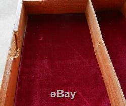 Italian Jewellery Musical Table Box Marquetry Reuge Handmade Vintage