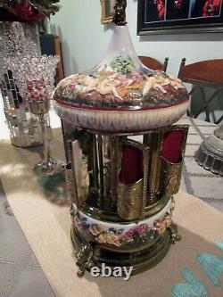 Italian Porcelain, Enameled Music Box with Opening Doors