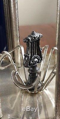 Italy Reuge Edelweiss Musical Lipstick Carousel Holder Devil & Cherub
