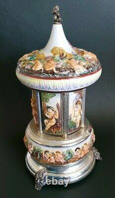 Italy Reuge Laras Theme Doctor Zhivago Music Box Cigarette Carousel Capodimonte