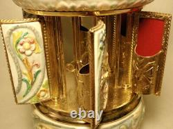 Italy Reuge Love Story Edelweiss Music Box Cigarette Carousel Cherubs