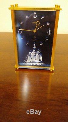 Jaeger Lecoultre 8 Day Musical Alarm Clock Reuge Music Box Sail Ship 3d Front