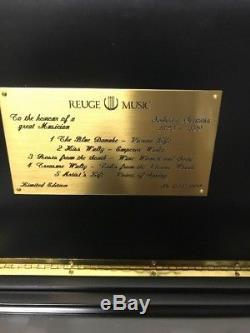 Johann Strauss Reuge Music Box 50 Notes Interchangeable Cylinders