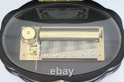 LARGE REUGE CYLINDER MUSIC BOX plays 3 tunes ch3/72 DEBUSSY, STRAUSS, IVANAVICI