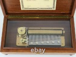 LARGE REUGE CYLINDER MUSIC BOX plays FUR ELISE by BEETHOVEN in 3 PARTS awesome
